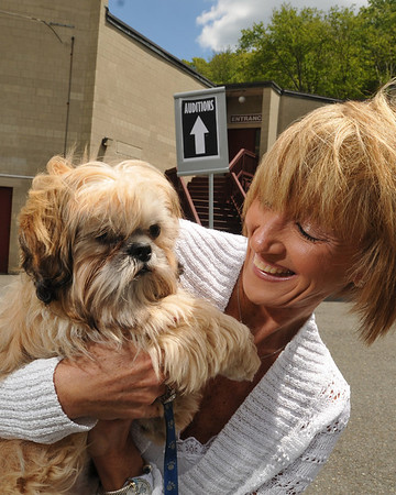 Beverly: Pamela Richman brings her shitzu Brady to The North Shore Theatre's auditions for 'Gypsy.' photo by Mark Teiwes / Salem News