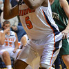 Salem: Salem State forward Shary Martinez drives to the basket.  photo by Mark Teiwes / Salem News