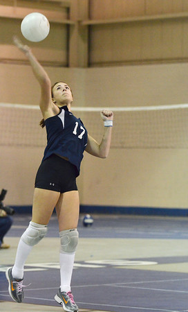 Peabody: Peabody's Kim Sousa serves during a game against North Andover.  photo by Mark Teiwes / Salem News
