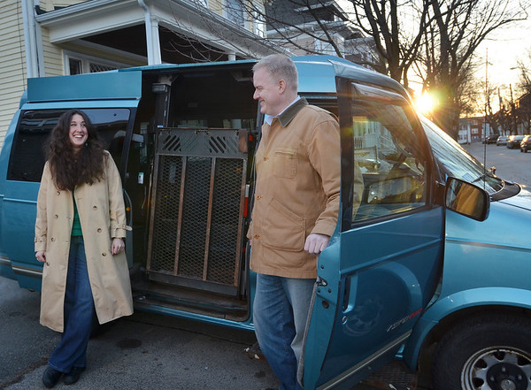 Salem: Andrea Aeschlimann and Bruce Mabbott first met at a Scottish dancing class.  This summer they will ship a van to England and travel for about five weeks for 10,000 miles by road to Mongolia.  photo by Mark Teiwes / Salem News