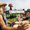 """Salem: Phil """"Two Toes"""" Johnson sends out a beat with the AD3 drum circle kicking off beginning of the Salem Culture Fest. photo by Mark Teiwes / Salem News"""