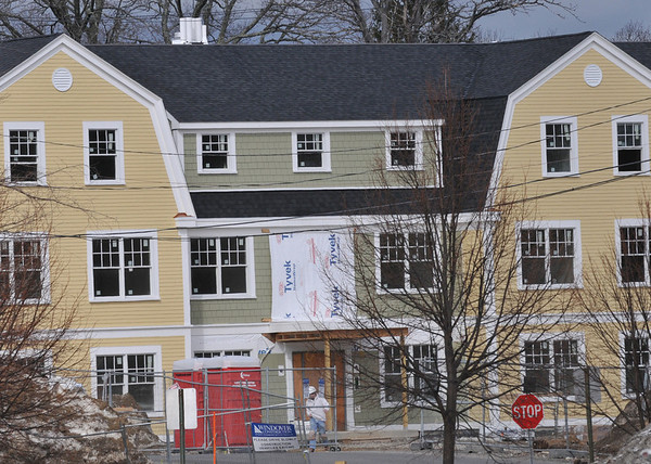 Ipswich:  Powder House Village, the Ipswich YMCA's affordable housing project, is coming down the home stretch.  They are now accepting applications and hope to have it occupied by July 1.  photo by Mark Teiwes / Salem News