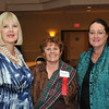 Peabody:  From left, Linda Cassia of Gumtion Inc. Patricia Merolle of Winning Inc. and Marisa Cole of Sensational Travel enjoy a night of networking and entertainment.  photo by Mark Teiwes / Salem News