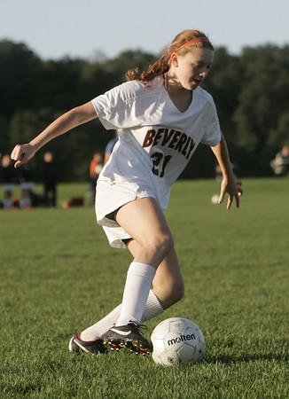 Beverly: Beverly defender Rose Terner clears the ball out of the zone.    photo by Mark Teiwes / Salem News