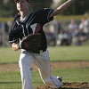 Lynn:  Peabody West little league pitcher Zack Crawford throws a strike against Wyoma.  photo by Mark Teiwes  / Salem News