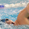 Marblehead: Danvers swimmer Tommy Giannino swims the freestyle.  photo by Mark Teiwes  / Salem News