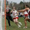 Topsfield: Masconomet senior captain Courtney Cliffe busts through the Newburyport defense on her way to score.  photo by Mark Teiwes / Salem News