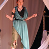 "Salem: Rachel Alexander at Thetis in ""Ghosts of Troy"" performed at Salem State University.  photo by Mark Teiwes / Salem News"
