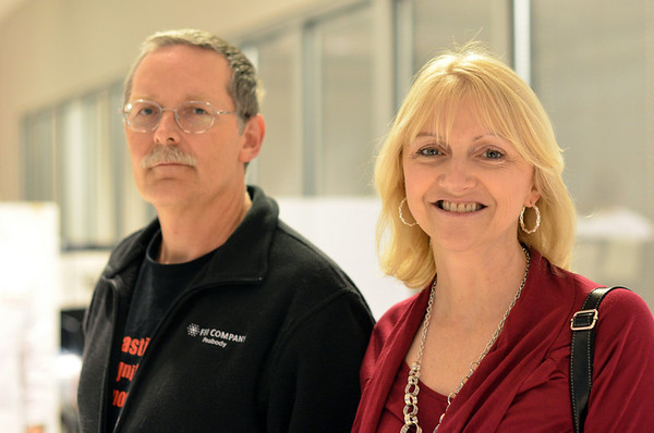 Danvers: Jeffery and Deborah Sauer of Danvers came to give blood at a Red Cross blood drive hosted at Honda North.  photo by Mark Teiwes / Salem News