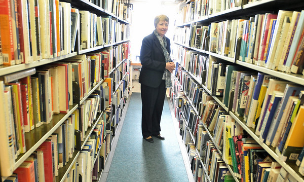Salem: Lorraine Jackson is retiring after six years as library director of the Salem Public Library and more than 30 years at the library. photo by Mark Teiwes  / Salem News