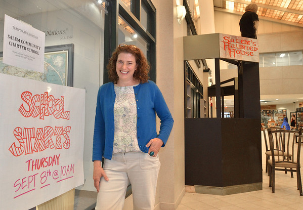 Salem: Jessica Yurwitz is the principal of the Salem Community Charter School.  The new school for dropouts or students at risk of dropping out, will open September 8th in the Museum Place Mall next to a haunted house. photo by Mark Teiwes /  Salem News