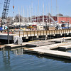 Beverly:  Beverly waterfront renovation continues with completion of a steel seawall, concrete deck, and concrete floats with 26 recreational slips.  photo by Mark Teiwes / Salem News