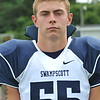 Swampscott High School varsity football captain Zach Kalapinski.  photo by Mark Teiwes /  Salem News