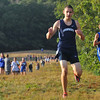 Topsfield:  Swampscott's Peter Hale, wins the boys tri-meet race with a time of 17:10 closely followed by Danvers runner Brian Herbert who finished a second later. photo by Mark Teiwes / Salem News