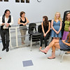 Danvers: Danvers Idol finals contestants wait backstage to perform.  Pictured from left, Laura Pawlyk, Billy Jenks, Karen Ranieri, Melissa Mills, Katie Hopkins, Carol Grossi, and Taryn Pydynkowski.    photo by Mark Teiwes / Salem News