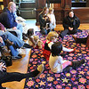 Peabody: Sarah Cost, right, of the Boston Ballet leads a ballet workshop at the Peabody Institute Library teaching about story, music, dance, and costumes.   photo by Mark Teiwes / Salem News