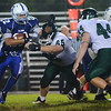Danvers: Danvers High School football captain Nick Valles runs for a carry against Pentucket. photo by Mark Teiwes / Salem News