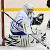 Salem: Danvers goalie Seth Kamens guards his goal. photo by Mark Teiwes / Salem News