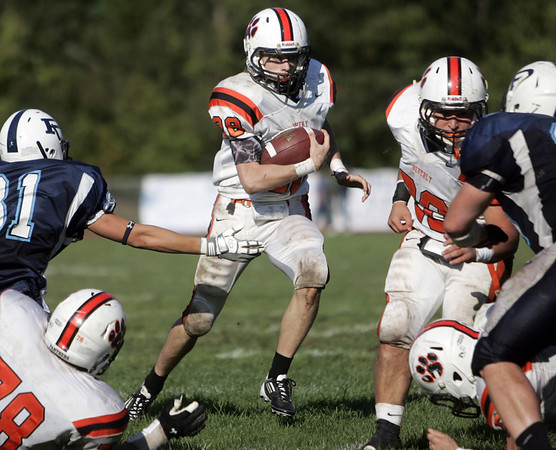 Peabody: Beverly's Ryan Shipp sprints for some yards. photo by Mark Teiwes / Salem News