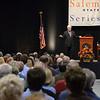 Salem: Former Speaker of the House Newt Gingrich speaks at Salem State's speaker series.  photo by Mark Teiwes / Salem News