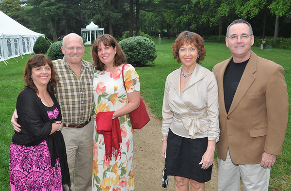 Danvers: Pictured from left, Pam Leahy, Rick and Marianne Barker, and Susan and Bruce Chadbourne at Glen Magna Farms.  photo by Mark Teiwes / Salem News