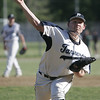 Peabody: Peabody High School pitcher Patrick Ruotolo releases a fastball.  photo by Mark Teiwes / Salem News