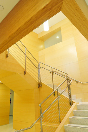 Salem: This Marsh Hall stairway has bamboo walls. photo by Mark Teiwes / Salem News