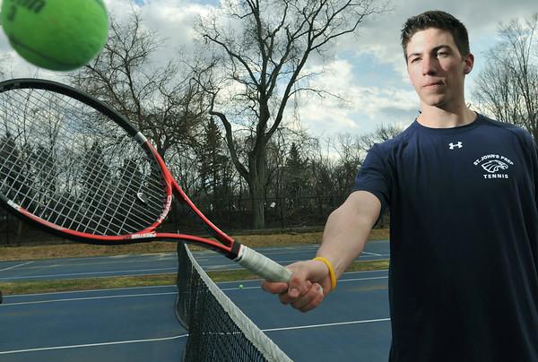 Danvers: St. John's Prep tennis captain John Corvi.  photo by Mark Teiwes / Salem News