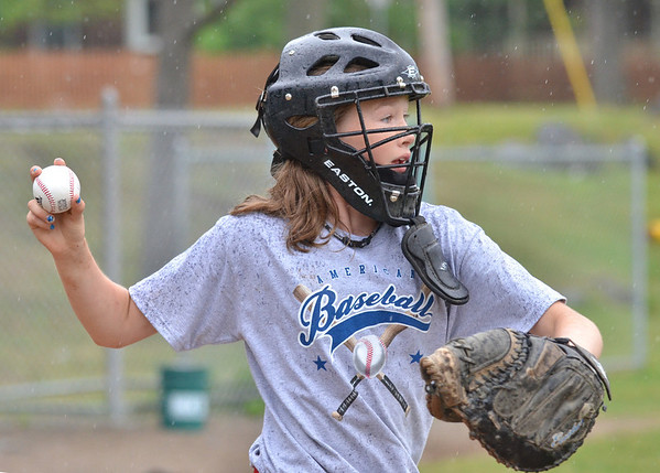 Danvers: The Danvers American Little League all-star player Courtney Cashman practices for the District 15 Williamsport tournament next week.  photo by Mark Teiwes / Salem News