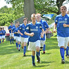 Hamilton: The U-16 Danvers Impact team warmup before a game at the Essex Country Youth Soccer playoffs. photo by Mark Teiwes / Salem News
