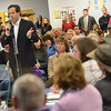 Wenham: Tyson Goodridge asks a question during last night's School Committee meeting.  photo by Mark Teiwes / Salem News