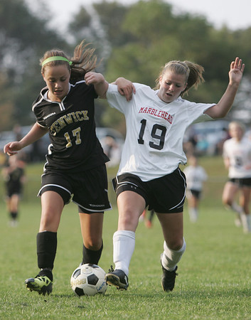 Marblehead: Bishop Fenwick's Marblehead's in a 3-3 tie.  photo by Mark Teiwes / Salem News