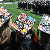 Beverly: Rachel Maniates, left, Brooke Malloy, and Ashley Macdonald decorated their hats with pictures of friends for their Beverly High School graduation.  photo by Mark Teiwes / Salem News