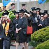 Salem: North Shore Community College graduates process into the ceremony. photo by Mark Teiwes / Salem News