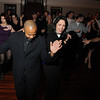 """Salem: Mayor Kim Driscoll, right, dances with instructor Greg Coles at last night's """"Salsa for the Schools"""" fundraising event at Rockafella's. photo by Mark Teiwes / Salem News"""