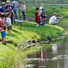 Danvers: The Endicott Park pond was packed with fishermen for the catch and release Mike Gordon Fishing Derby.   photo by Mark Teiwes / Salem News