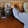 Danvers: Founder and director Glenn Mairo, right, leads the Essex Harmony singing group in a song.  photo by Mark Teiwes / Salem News
