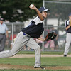 Lynn: Peabody American's Frank Celona throws a strike out in a district 16 little league game. photo by Mark Teiwes / Salem News