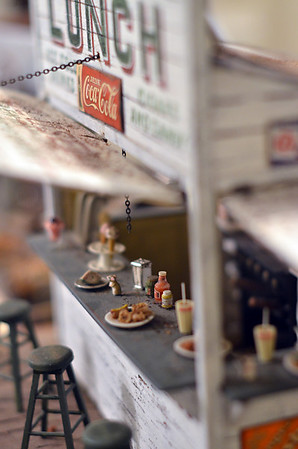 Wenham: Nancy Shane's Wenham Lake roadside stand features many lifelike details.  photo by Mark Teiwes / Salem News