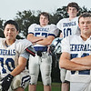 Hamilton: Hamilton-Wenham's key players in its defensive line are Paul Kim, left, Shane Jenkins, Taylor Drinkwater, and Ryan Foringer.  photo by Mark Teiwes / Salem News