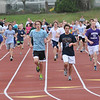 Peabody: Bishop Fenwick track team warms up at the start of practice.  photo by Mark Teiwes