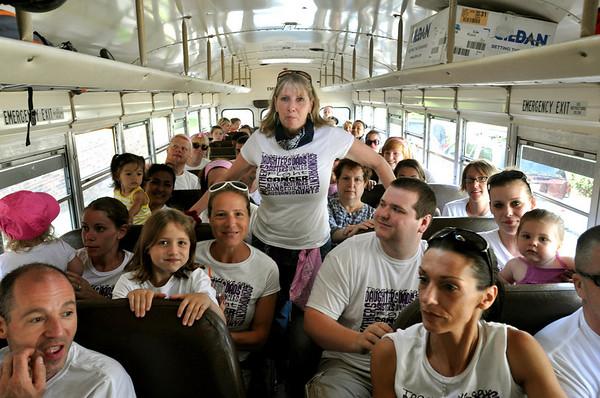 Salem:  Joanna Litalien, center, helped organize the Cancer Crusaders team for the North Shore Cancer Walk.  photo by Mark Teiwes / Salem News