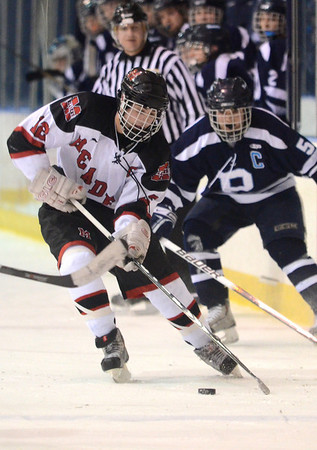 Salem: Marblehead captain Ryan Dempsey scored a goal during a game against Peabody's.  photo by Mark Teiwes  / Salem News