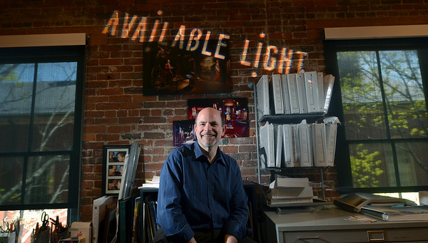 Salem: Steven Rosen is the founder of Available Light in Salem, which did the lighting design of the new shark and ray touch tank at the New England Aquarium.  MARK TEIWES/ Staff photo
