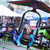 Topsfield: John Laut, 16, of Georgetown and Emma Adams, 15, of Newburyport soar on a hanglider ride Sunday at the Topsfield Fair.  photo by Mark Teiwes / Salem News