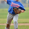 Danvers: The Danvers American Little League all-star player Jack Ward practices for the District 15 Williamsport tournament next week.  photo by Mark Teiwes / Salem News