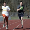 Peabody: Anthony Tedescucci, left, and Ben Braz are Peabody track team's top distance runners.  photo by Mark Teiwes / Salem News