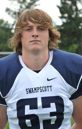 Swampscott High School varsity football captain Sam Gold.  photo by Mark Teiwes /  Salem News