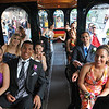 Salem: Students travel by trolley from the Salem Common to the Salem High School prom.  by photo by Mark Teiwes / Salem News