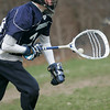Topsfield:  Hamilton-Wenham's goalie Luke Drieze looks for a pass.  photo by Mark Teiwes / Salem News